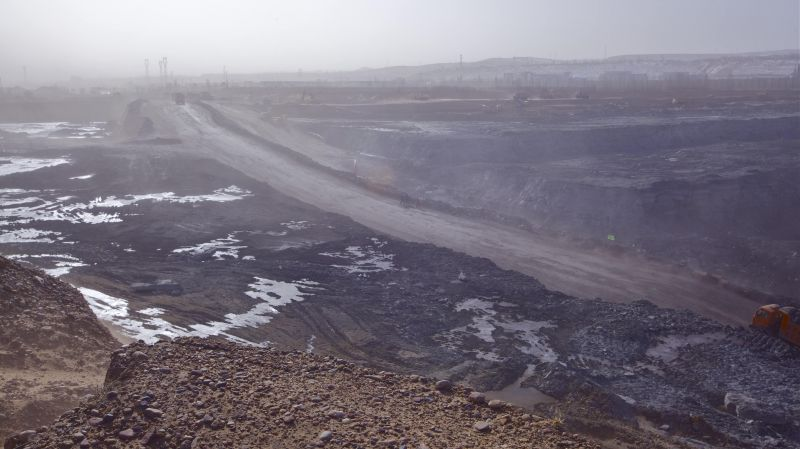 strip coal mine in Ordos